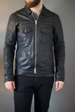 Allsaints Black Leather Jacket Men's Size XS Extra Small
