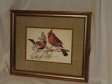 "Cardinal BY AL DORNISCH FRAMED SIGNED ART 1972  #668 OF 1500 17"" x 20 1/2"""