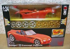 Maisto Dodge Concept Car Pearl Orange Color Model Kit Die Cast 1:24 Scale! NEW