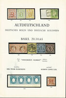 Classic Germany and Colonies, Oct. 20, 1965, Auction Cat., P. Kaufmann, R. Lowe