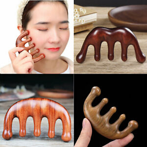 Natural Sandalwood Wide Tooth Hair Comb Anti Static Head Scalp Massager SPA