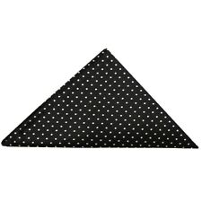 TIES R US Black and White polka dot Pocket Square Handkerchief Hanky Wedding
