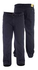 New Mens Duke King Big Elasticated Waist Denim Jeans Stone Wash Black Size 42 60