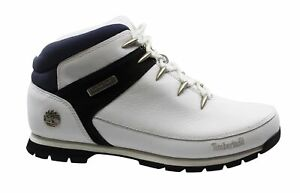 Timberland Euro Sprint White Leather Lace Up Mens Ankle Boots 41534