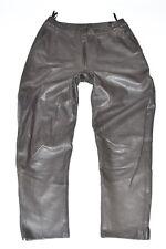 "VINTAGE Marrone in Pelle MADELEINE Affusolato Donna Pantaloni Pants Taglia W30"" L29"""