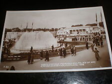 Old postcard cascade fountain Empire Exhibition Scotland 1938