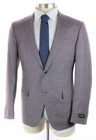 NWT $3395 ERMENEGILDO ZEGNA Trofeo Summer Purple Wool Linen Silk Suit 40 R 50 Eu