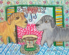 Glen of Imaal Terrier 8x10 Dog Art Limited Edition Print Signed by Artist Ksams