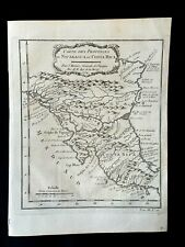 1754 MAP OF NICARAGUA AND COSTA RICA