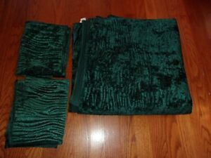 New Mainstays Teal Green Velvet 100% Polyester Full Queen Coverlet & Shams