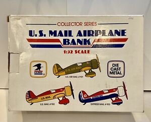 U.S.Mail Airplane Bank #101, 1:32 Scale, Green and Yellow colors, 1991 Vintage