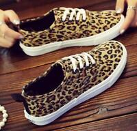 Womens Fashion Sneakers Slip On Loafers Casual Trainers Jogging Shoes Leopard