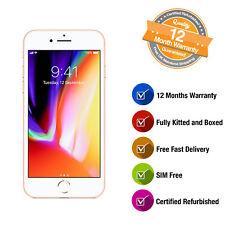 Apple iPhone 8 64GB Gold Unlocked SIM Free Smartphone Refurbished