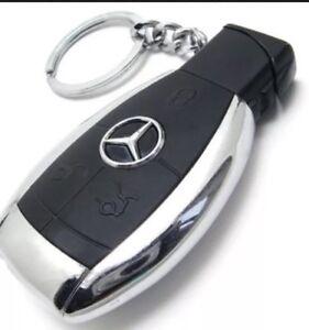 1 X MERCEDES CAR Key LIGHTER DESIGN CIGARETTE LIGHTER REFAILLABLE JET FLAME