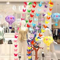 3D Schmetterling hängen Papier Banner Hochzeit Geburtstag Party Garland Chain