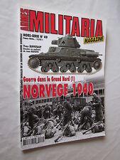 ARMES MILITARIA Magazine HORS SERIE N°49 GUERRE DANS LE GRAND NORD 1 NORVEGE
