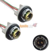 2pcs 1157 2057 2357 LED Bulbs Signal Lights Socket Harness Plugs Adapter