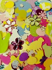 Easter Mix small scrapbooking cuts/punches/sequins/resin lot DIY