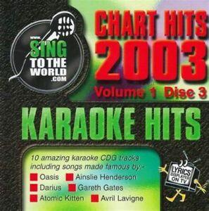 Karaoke Hits: Chart Hits 2003 Vol 1 Disc 3 CDG Oasis, Darius, Atomic Kitten, etc