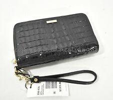 NWT Brahmin Zora Double Zip Leather Wallet/ Wristlet in Black La Scala