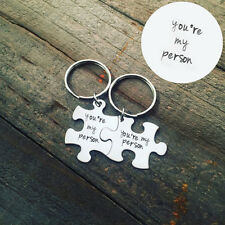 1 Pair You're My Person Keychain Best Friends Alloy Key Ring Gift Relationship