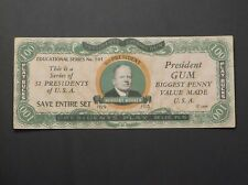 1933 Dietz Gum Presidents Play Bucks - Herbert Hoover, $100.00 variation