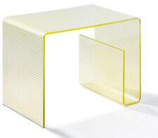 Multifunktionstisch aus Acrylglas -  Material Acryl klar - Siebdruck gold