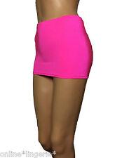 Mini Skirt Micro UV Neon Pink Stretch High Waisted Party Clubwear Bodycon CS9