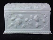 Lenox Roses Treasure Chest / Ark Music Box In Packaging