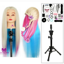 26-29 inch Colorful Hair Cosmetology Doll Styling Hairdressing Mannequin Head UK