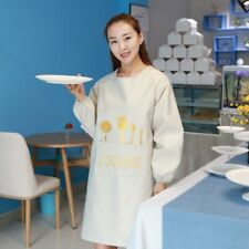Apron Long Sleeve Waterproof Kitchen Chef Butcher Cooking Baking with Pocket New