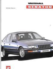 VAUXHALL SENATOR 2.6i, 3.0i, CD AND CD24v SALES BROCHURE DECEMBER 1989 FOR 1990