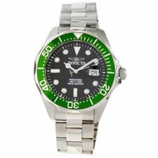 Invicta 3047 Men's Pro Diver Grand Diver Green Bezel SS Automatic Watch 300m