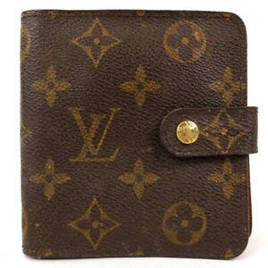 LOUIS VUITTON Compact zip wallet monogram brown M61667 M61667