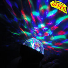 Sensory LED Light Rotating Crystal Night Projector Calming Autism Colourful Ball
