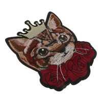 Cartoon Cat Embroidered Motif Applique Sew Iron on Patch for Hat Jeans Decor