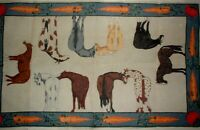 """MZC 40""""x24"""" Horse & Carrot Rug Carpet HP Hand Painted Needlepoint Canvas"""