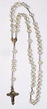 Chapelet argent + perles de cristal Fin 19e siècle rosaire rosary fleur de lys