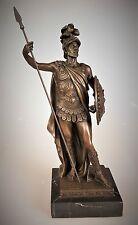 Bronze Figur Skulptur Ritter Krieger signiert