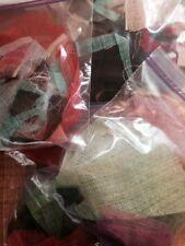 "Sinamay Fabric Scrap Bags Lucky Dip various mixed colours 9"" x 7"""