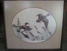 Gene Murray Duck Lithograph Print Signed Numbered 164/750 With Wooden Frame