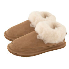 Ladies Wool Lined Bootee Slippers with Fluffy Cuff & EVA Sole by Lambland