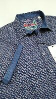 Robert Graham Men's XL Altamont Multicolor Short Sleeve Shirt, NWT $198