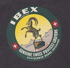 Ancienne  étiquette Fromage  Suisse BN13352 Le Bouquetin