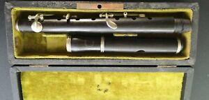 Vintage blackwood piccolo flute with case 1