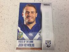 2017 NRL TRADERS FACES OF THE GAME, JOSH REYNOLDS, FG 9/48.