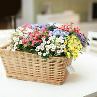 6 Heads Artifical Silk Flowers 1 Bouquet Fake Flower N3B2 Party Wedding K4J7