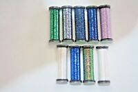Kreinik Blending Filament Metallic You Choose Your Colors 50 meters 55.6 yards