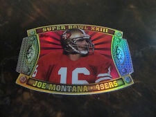 2011 Topps Football--Super Bowl Legends--Giveaway Diecut--Joe Montana--Un-Peeled
