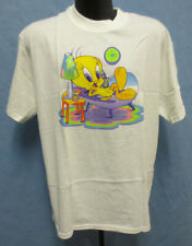 TWEETY BIRD GLITTER SHIRT PRINTED CARTOON LOONEY TUNES VINTAGE RETRO VTG CUTE